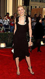 Flirty in a ruffled LBD at the 2002 SAG Awards.