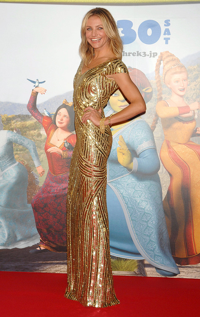 A golden goddess at a film premiere in '07.