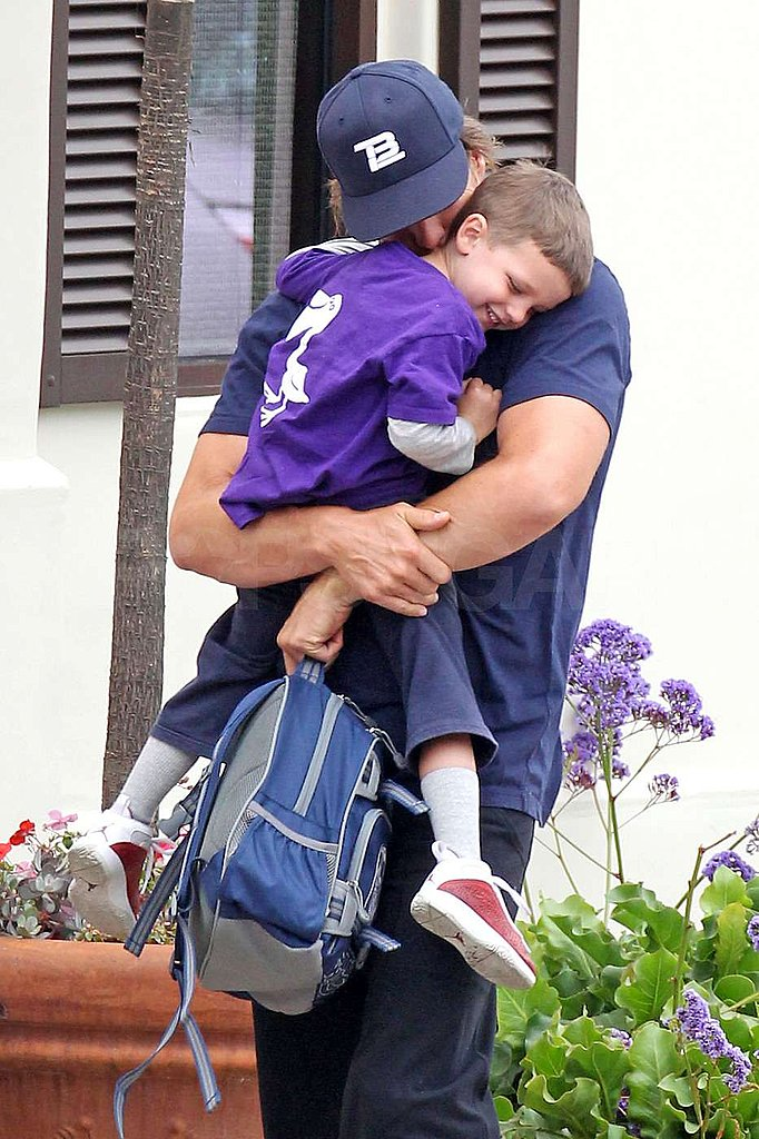 Tom Brady and his son Jack shared some laughs in Malibu.
