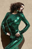 Anna Paquin slipped into green sequins.