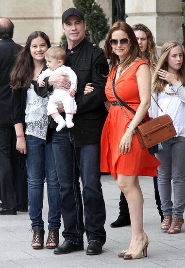 John Travolta and Kelly Preston Show Baby Benjamin the Sights of Paris!