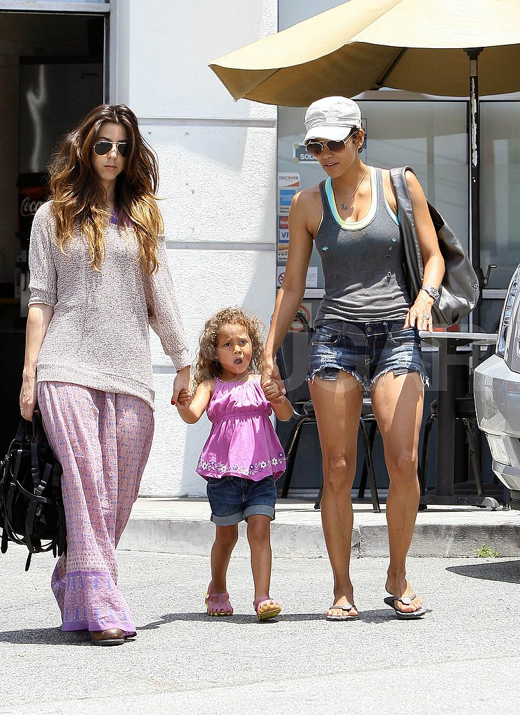 Halle Berry and daughter Nahla Aubry walking in LA.