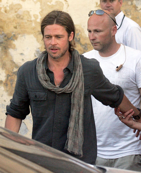 Brad Pitt Battles a Sea of Zombies in Malta