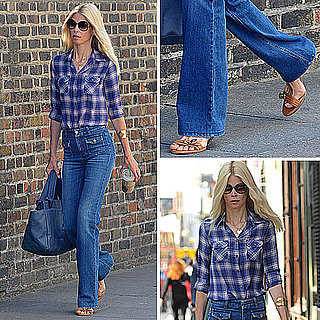 Claudia Schiffer Wearing High-Waist Jeans: Get the Look