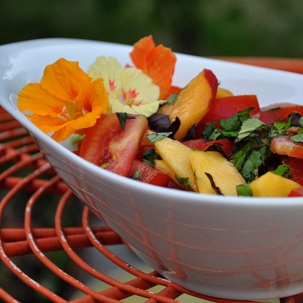 Friday Recipe Tomato And Peach Salad With Feta And Red Onion Pictures ...