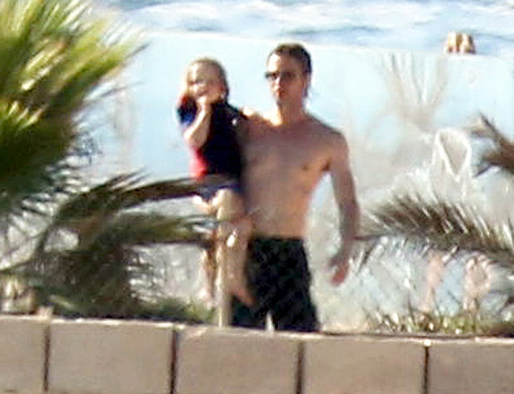 Brad Pitt went shirtless in Malta.