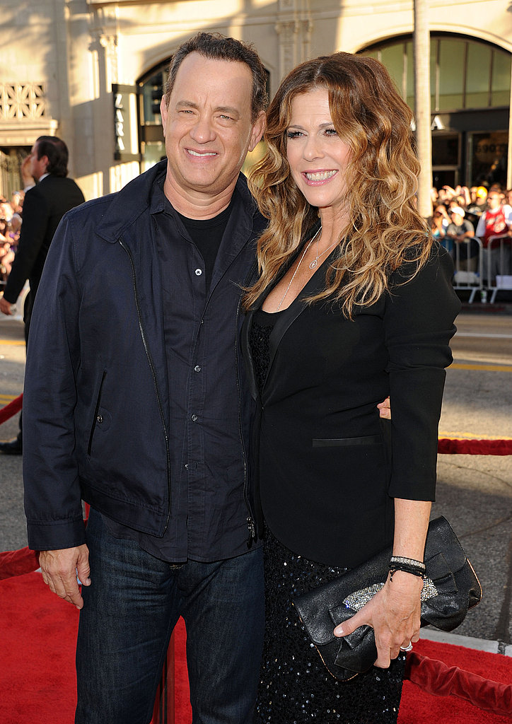 Tom Hanks and wife Rita Wilson at the LA premiere of Larry Crowne.