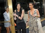 Designer Vera Wang joined Kim and Kourtney Kardashian for lunch.