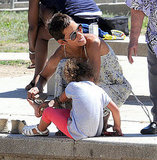 Halle Berry and Nahla Aubry played at the park.