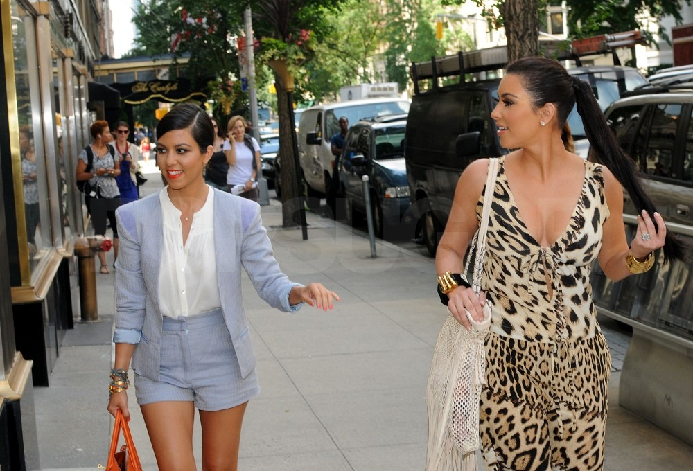 Kim and Kourtney Kardashian shopped together in NYC.