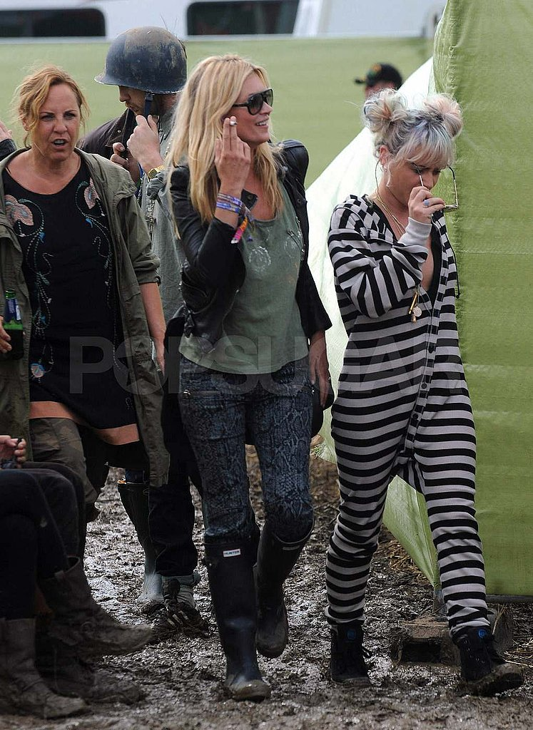 Kate Moss checked out Glastonbury 2011.