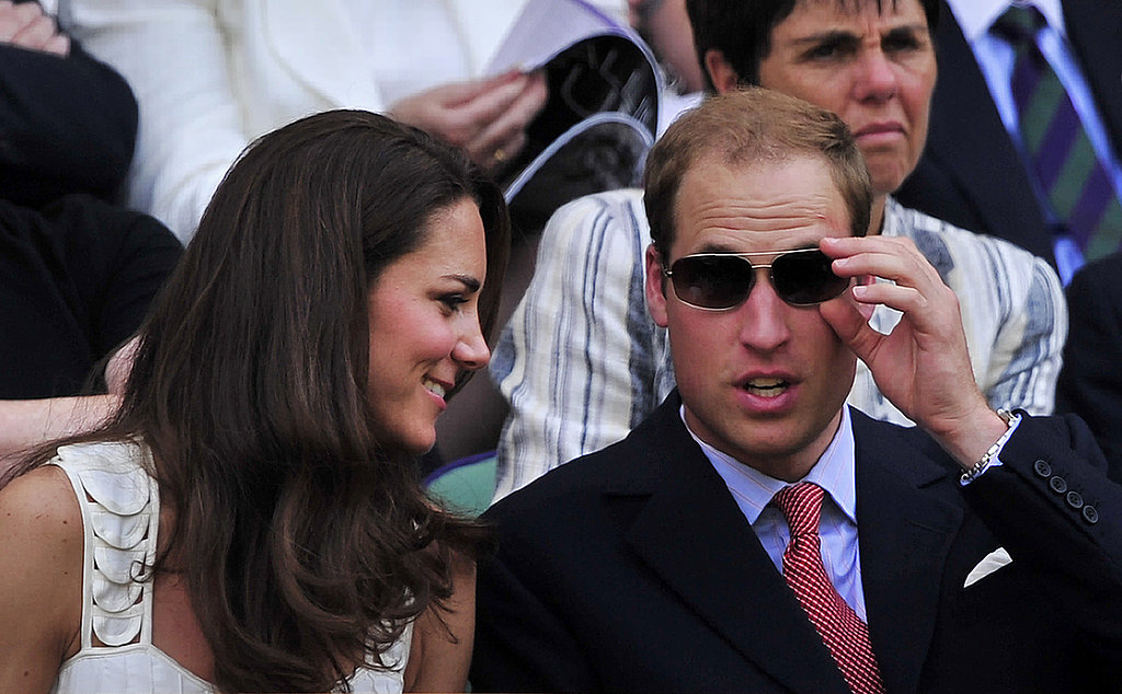 Prince William and Kate Middleton take in the match.