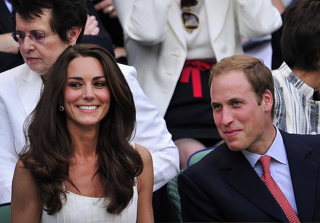 Kate Middleton looks happy at Wimbledon.