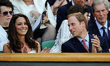 Prince William and Kate Middleton cheer on Andy Murray.