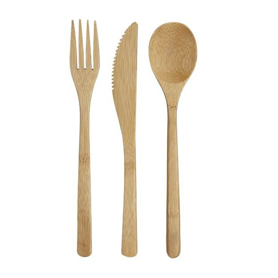 Crate & Barrel Bamboo Flatware Setting, $5