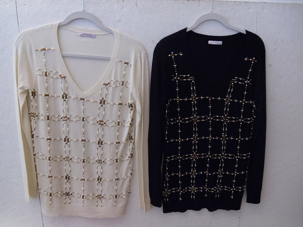 Love ADAM LS V Neck Sweater with Embellishment, $129.90