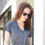 Kristen Stewart stepped out in dark sunglasses.