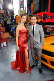 Rosie Huntington-Whiteley and Shia LaBeouf posed together at the Transformers: Dark of the Moon premiere in NYC.