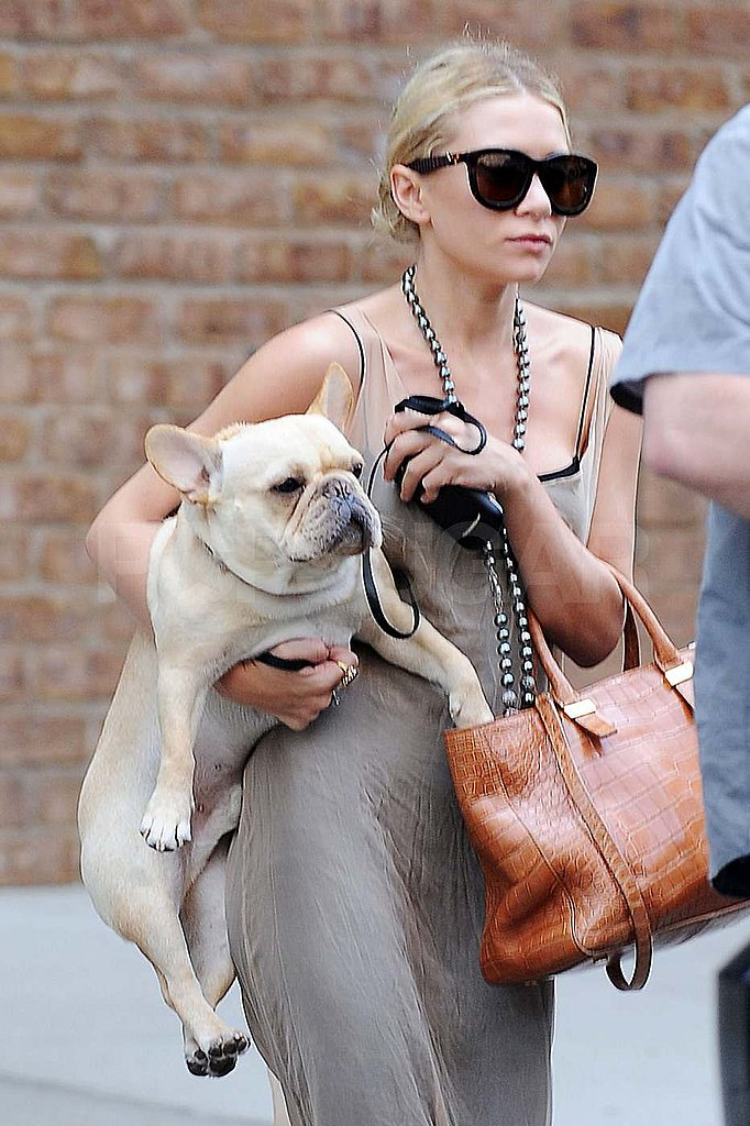 Ashley Olsen stepped out with her dog in NYC.
