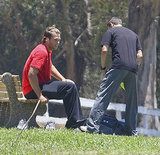 Tom Brady at football practice in LA.
