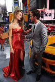 Rosie Huntington-Whiteley and Shia LaBeouf chatted at the Transformers: Dark of the Moon premiere in NYC.
