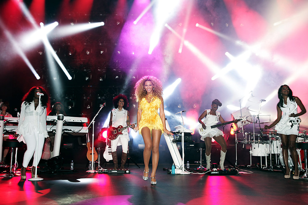 Beyoncé Knowles performed several hits at her exclusive London show.