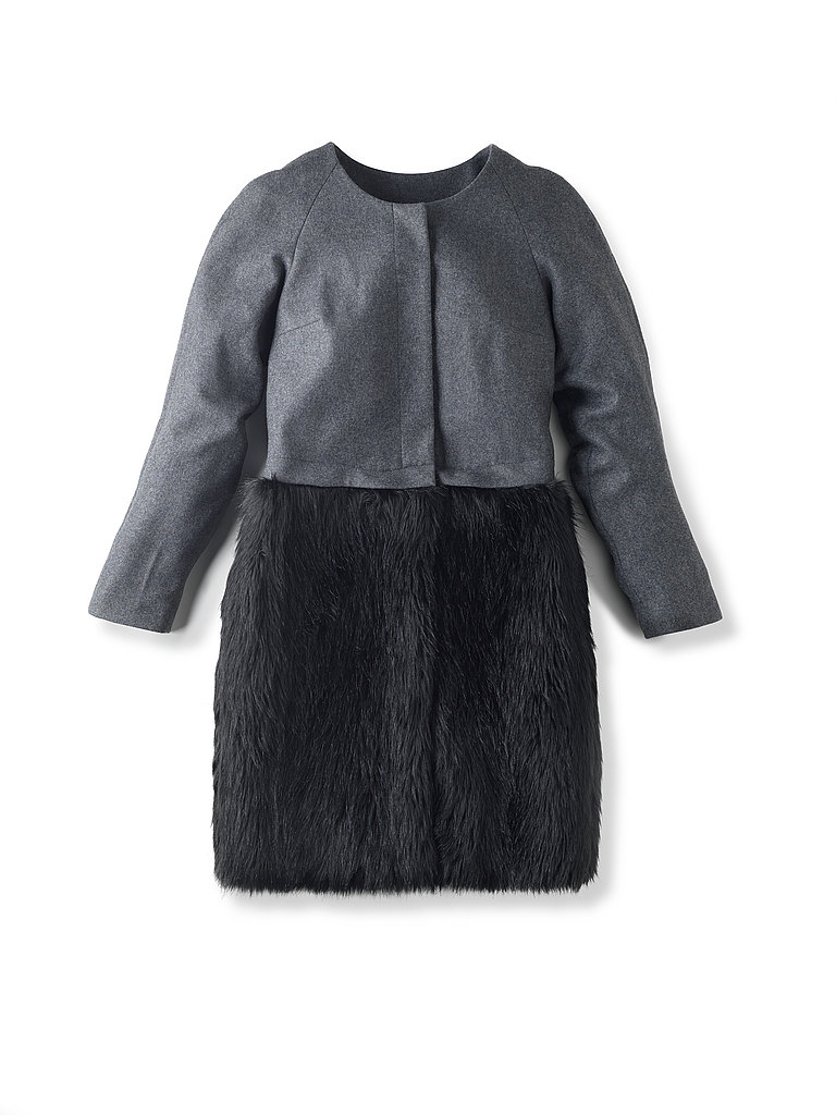 Felt & Fur Convertible Coat, $400