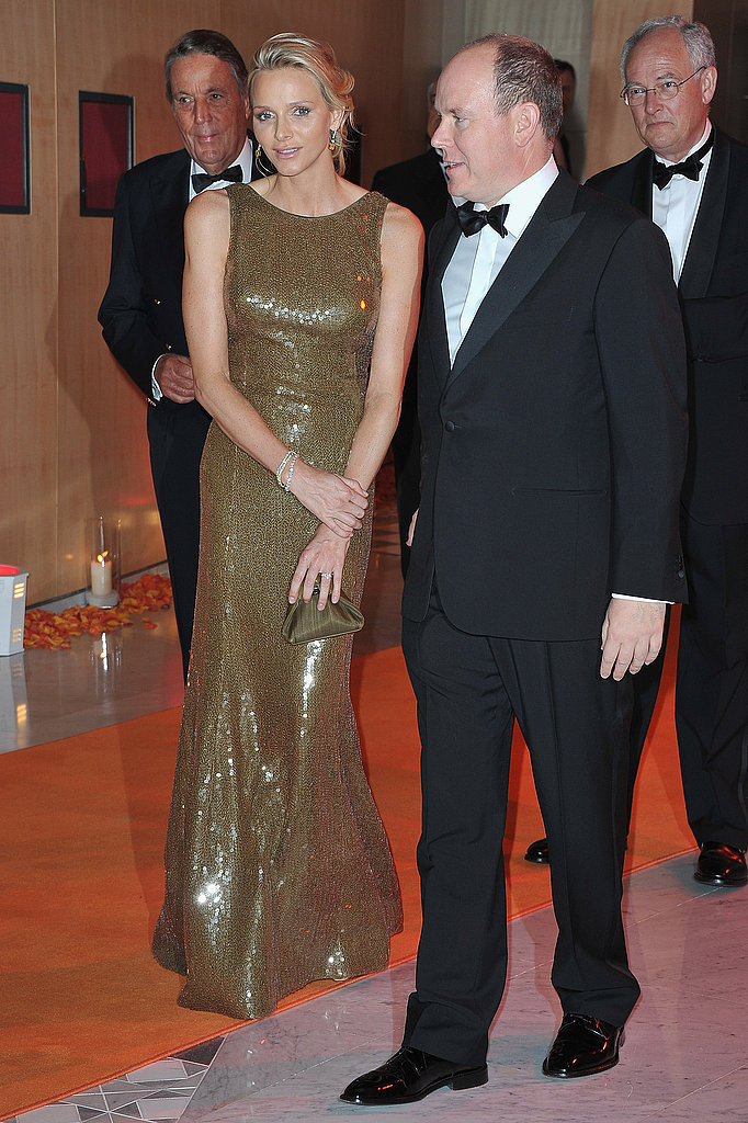 Princess Charlene and Prince Albert arrived to attend the Formula One Gala dinner in May 2011. Source: Getty / Pascal Le Segretain