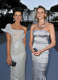 Actress Kate Beckinsale and Charlene Wittstock arrive at amfAR's Cinema Against AIDS 2010 benefit gala.