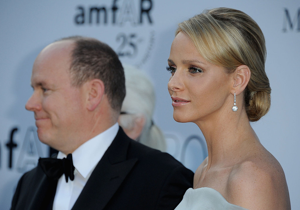 Prince Albert of Monaco and Charlene Wittstock attend amfAR's Cinema Against AIDS Gala during the 2011 Cannes Film Festival.