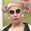 Lady Gaga Sports Panda Eyes on a Japanese Talk Show. See The Video!