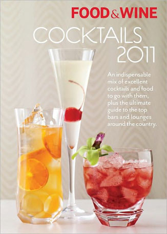 "The Food & Wine Cocktails 2011 is an annual publication we look forward to every year. Get insider tips and try recipes from some of the hottest mixologists out there now.  Can't Wait to Taste: A Rye-based cocktail called ""Presbyterian's Aversion"" — with a name like that it's got to be good."