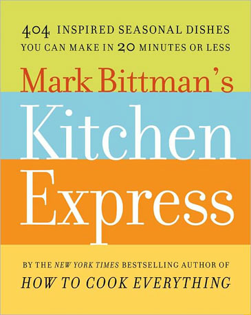 Cookbook guru Mark Bittman's newest release Mark Bittman's Kitchen Express offers delicious and accessible recipes for every season and home cook. Did I mention you can make them all in 20 minutes or less? If anyone can pull this off, it's Mark Bittman.  Can't Wait to Taste: Scallop and Peach Ceviche