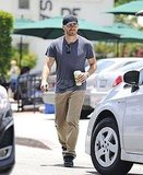 Jake Gyllenhaal left Urth Cafe in a baseball cap.