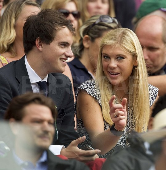 Chelsy Davy chatted with a guy during Wimbledon.