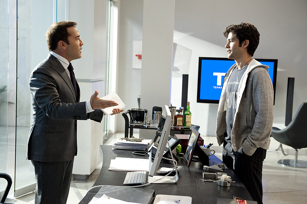 Jeremy Piven as Ari Gold and Adrian Grenier as Vincent Chase, Entourage season eight.