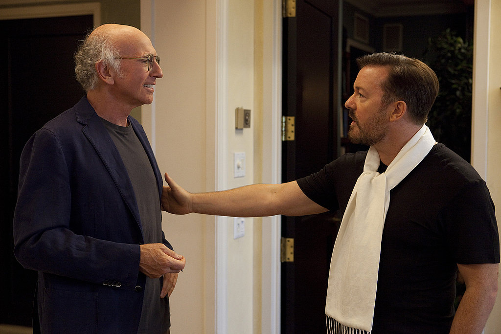 Larry David and Ricky Gervais, Curb Your Enthusiasm season eight.