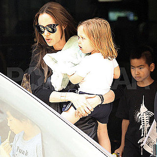 Angelina Jolie With Knox, Shiloh, Zahara, Pax, and Maddox