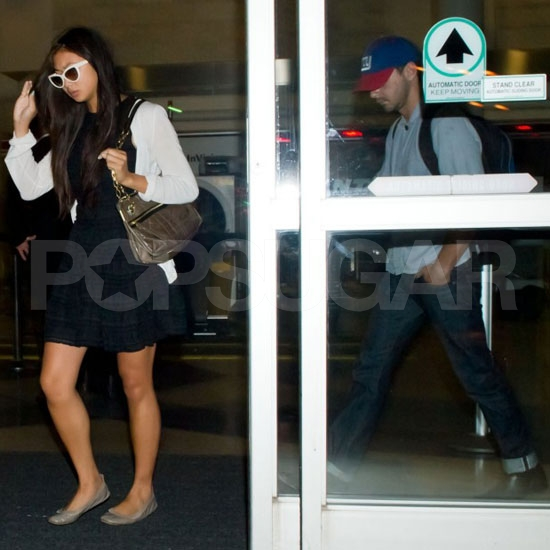 Shia LaBeouf and Girlfriend Karolyn Touch Down Back in LA