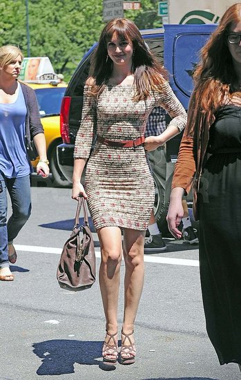 Leighton Meester arrived in a tight dress at the Monte Carlo press junket.