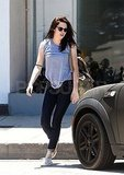 Kristen Stewart finished a yoga class in LA.