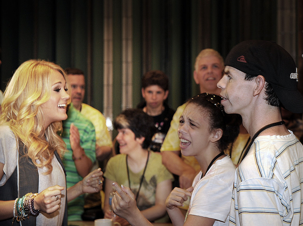 Carrie Underwood sang with campers at the ACM Lifting Lives Music Camp.