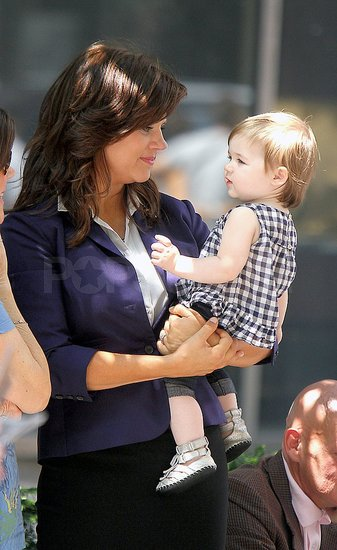Tiffani Thiessen and Harper Smith hung out off-set.