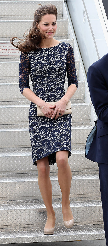 Kate Middleton looked gorgeous in a lace Erdem dress in Ottawa.