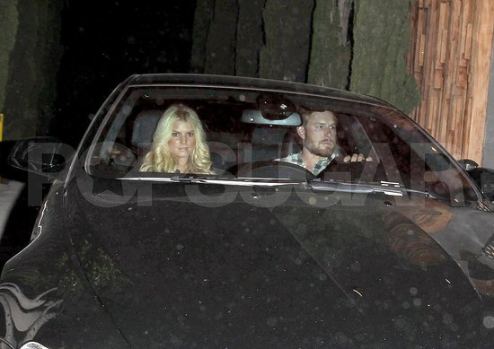 Jessica Simpson and Eric Johnson at Nobu Pictures