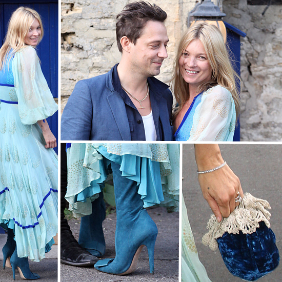 Kate Moss Wears Something Blue For Prewedding Party