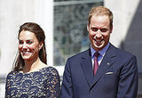 Prince William and Kate Middleton's smiles could hardly get any bigger.