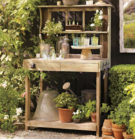 I absolutely adore this Potting Shed Bar ($700). It has lots of shelving to get all your gardening organized or serves as a perfect bar for outdoor entertaining. It would have been a perfect addition for my Fourth of July BBQ.