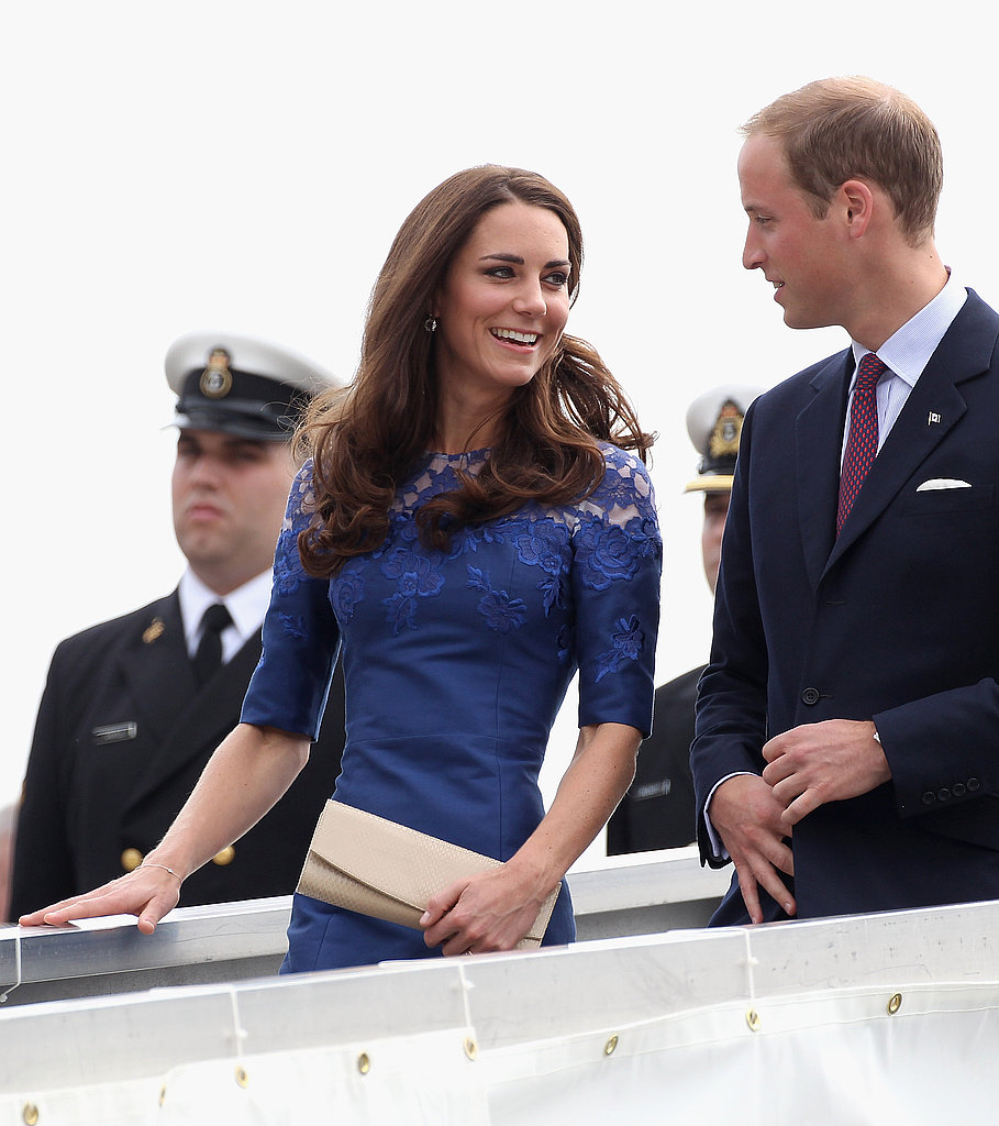 Kate Middleton arrives in Quebec City with her prince.