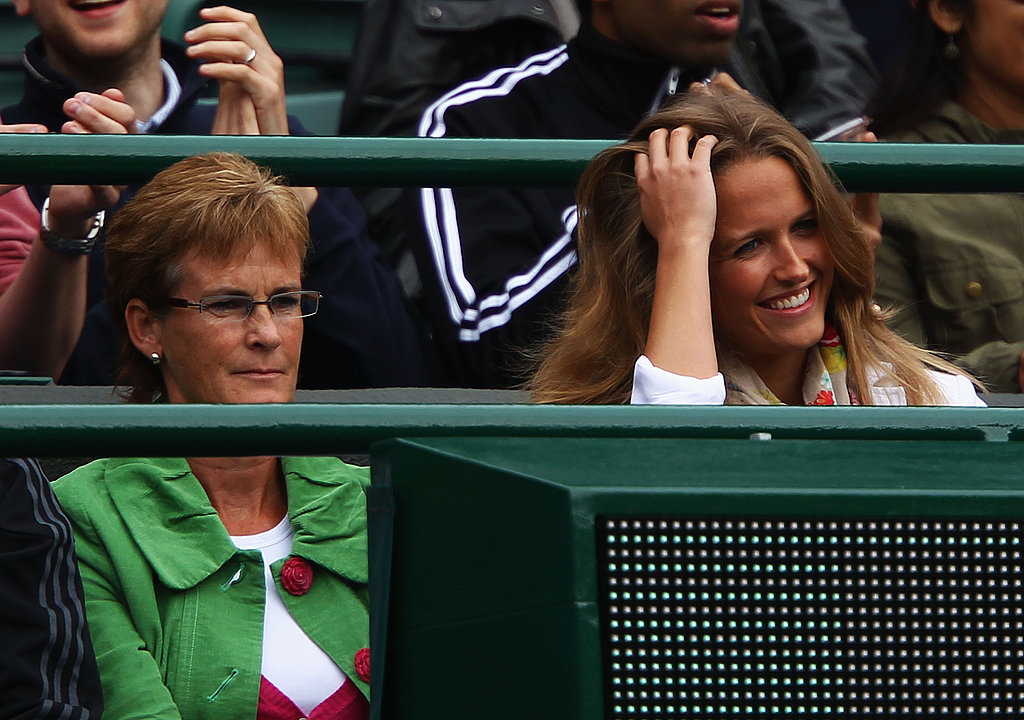 Judy Murray and Kim Sears